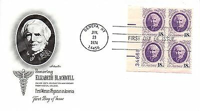 US FDC #1399 Blackwell Plate Block, Artmaster (4349)