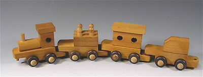 Wood Toy Train Ornament COLLECTION, Hallmark Tin Train,Brass Plated Engine