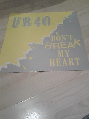 "UB40 12"" vinyl record Don't Break My Heart"