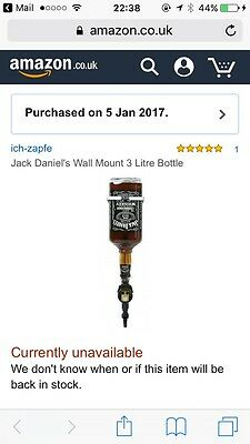 jack daniels Holder 3litre Wall Mount