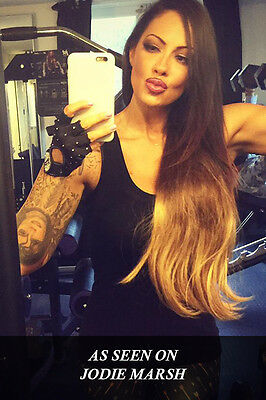 """REDUCED NEW! Ombre #2-#4-#27 165g 20"""" Clip in Remy Human Hair Extensions"""