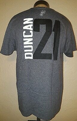 45a2abee0 NEW Majestic NBA San Antonio Spurs  21 Duncan Gray Jersey T-Shirt Mens Large