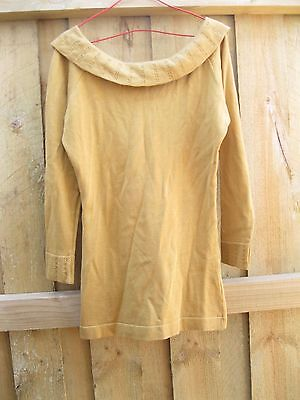 As New Mustard Yellow Cotton Jumper Top