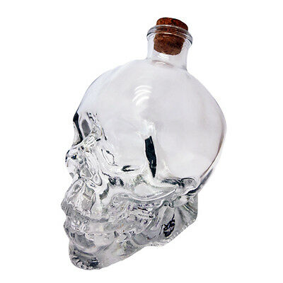 Crystal Skull Head Bar Decantor Cocktail Vodka Drinking Ware Kitchenware