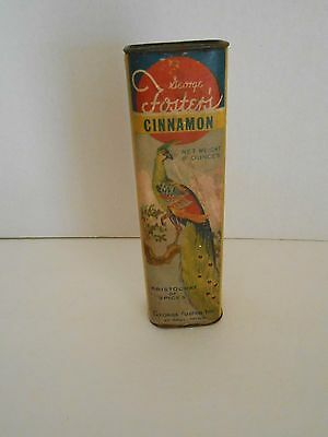 George Foster's spice tin cinnamon with peacock