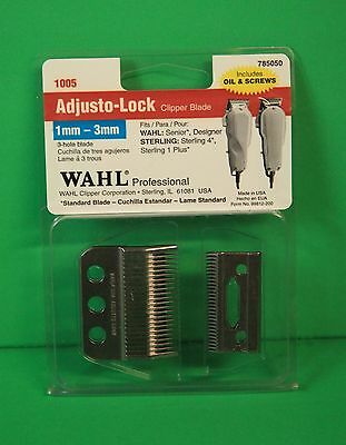 wahl blade 1mm-3mm includes oil and screws1005