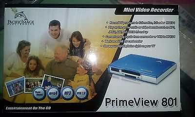 Pacific Image Electronic PRIME VIEW 801 Mini Video Recorder Player Converter NIB