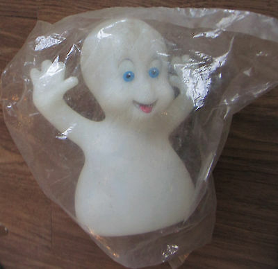 CASPER THE FRIENDLY GHOST Glow-in-the-Dark Rubber Puppet. 1995 Pizza Hut Toy NEW