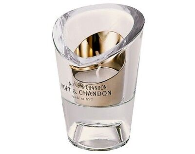 NWT New RARE MOET CHANDON CHAMPAGNE HEAVY GLASS CRYSTAL CANDLE HOLDER