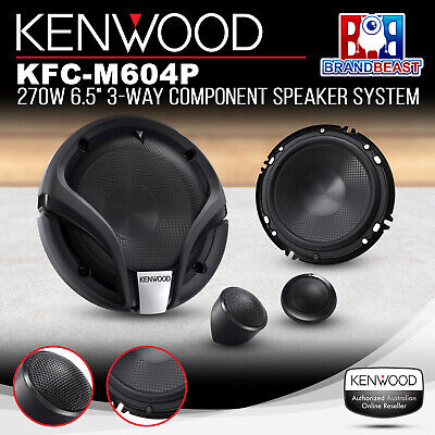 "Kenwood Kfc-M604P 6"" 2 Way Component Car Speakers 270 Watts Comp Splits Six Inch"