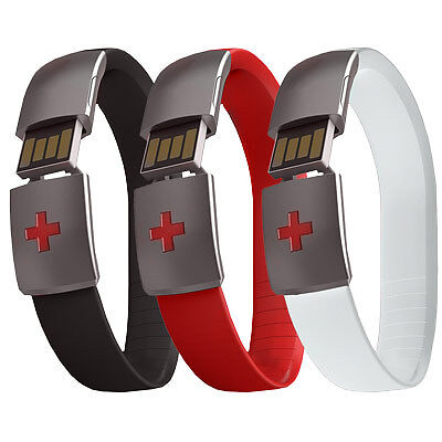 New Epic-Id Usb Emergency Bracelet White Medical Road Mtb Bike Running