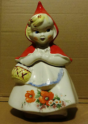 Hull Regal Little Red Riding Hood Cookie Jar Closed Basket Single Poppy # 135889