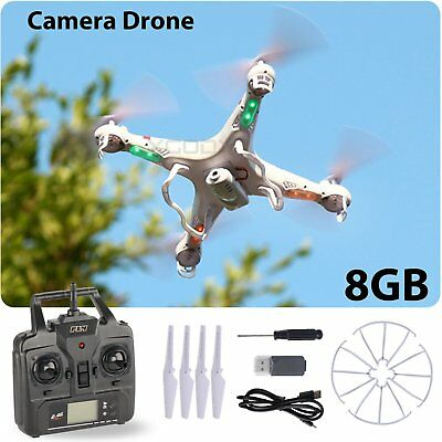 Drone UFO Camera Drone 6-Axis Gyro RC UAV RTF with 2.4Ghz  Quadcopter 8GB X5C-1