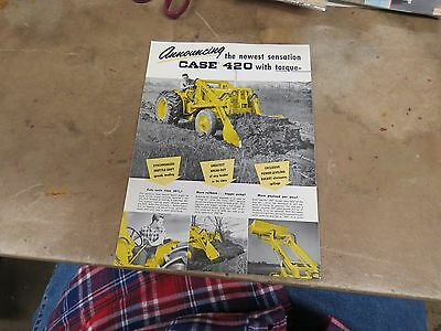 Introduction CASE 420 Tractor brochure