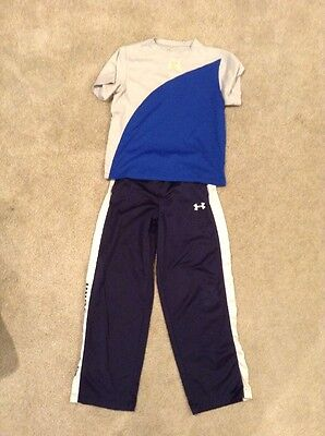 UNDER ARMOUR YLG Youth Large Lot - 1 Sweat Pants, 1 Shirt