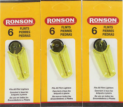 18 RONSON Flints Spark Stones, Compatible with Zippo Lighters, Free Shiping