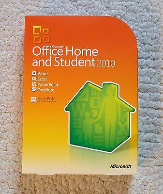 Microsoft Office Home and Student 2010 - Family Pack - Like New