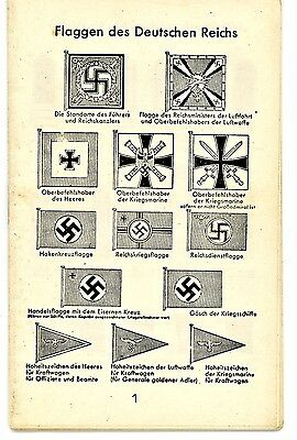 WW2 German Illustrated Pocket Guide: Flags Military & Police Ranks Badges Medals
