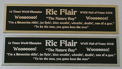 """Ric Flair """"Nature Boy"""" nameplate for signed photo belt trunks robe WWE"""