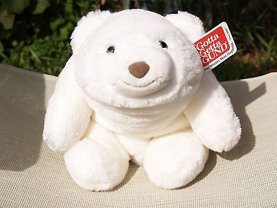 """Gund - Large White Snuffles Bear - #015165 - 10"""" - New - All Tags"""