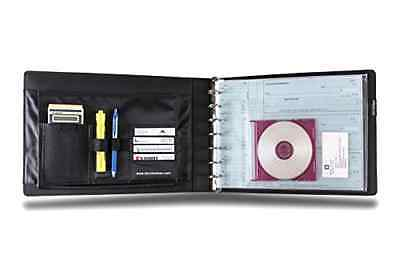 REAL Leather 7 Ring 3 on a Page Check Book Binder for Business Checks Brand New