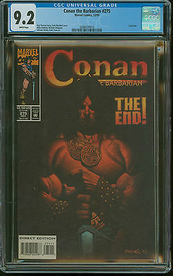 Conan the Barbarian 275 CGC 9.2 White 1993 Marvel Last Issue END Roy Thomas
