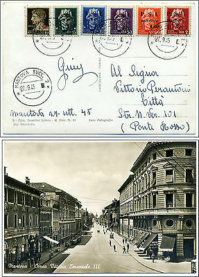 Six stamps PSI MANTOVA  Postmarked First Day Issue 27 September 1945 - Very Rare