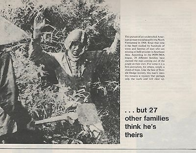 1972 Unidentified American Airman POW Vietnam Vintage B&W Magazine Print Photo