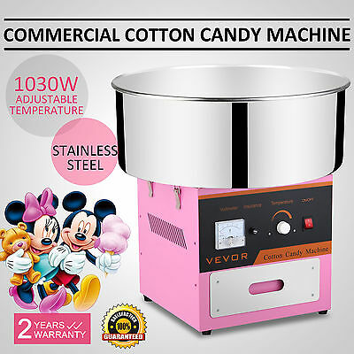 Electric Commercial Cotton Candy Machine / Floss Maker Pink  VEVOR Updated