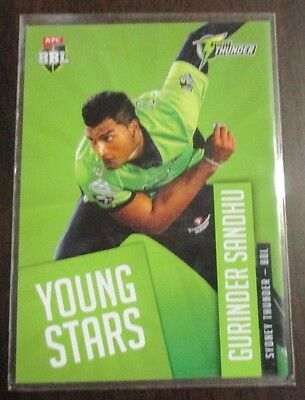 Cricket Trading Cards, 2015/16 Tap'N'Play, Young stars, Gurinder Sandhu YS-12