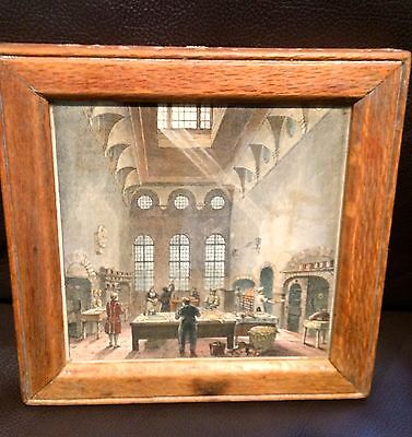 Antique small wooden framed picture