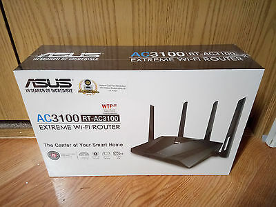 ASUS RT-AC3100 Wireless AC3100 Dual-Band Gigabit Router, AiProtection with Trend