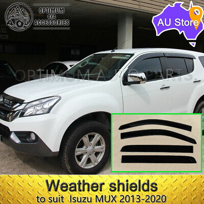 Premium Isuzu MUX MU-X Weathershields Window Visors Weather shields 2013-2017