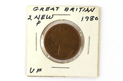1980 Great Britain Coin 2 New Pence