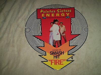 1978 * ORIGINAL * rare POINTER SISTERS ENERGY store hanging promotional DISPLAY