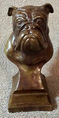 English Bulldog Bronze Bust - Lot Bulldog