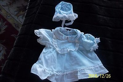 CABBAGE PATCH KIDS Preemie Blue Dress, Bloomers, and Bonnet