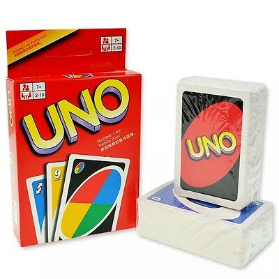 Standard 108 UNO Playing Cards Game for Travel Family Friends