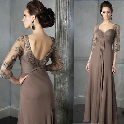 Elegant Empire Mother of The Bride Dress Evening Prom Party Gown Plus Size 2-26W