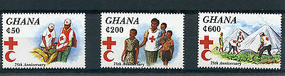 Ghana 1994 MNH Red Cross Society 75th Anniv 3v Set Medical Health Stamps