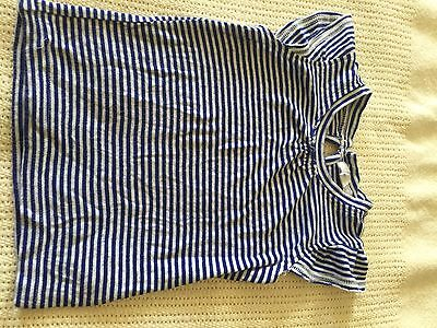 Pure Baby T-shirt, Blue & White Stripe, Size 0 (6-12 Months)