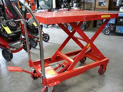 Hydraulic Lift Table Trolley Table Board Ramp Dolly Mover