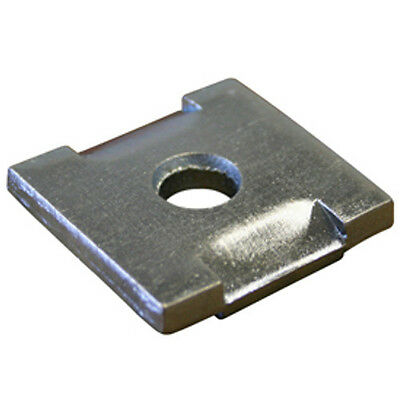 """(BOX OF 100)  1/2"""" NT Square Washers for Strut Channel, 304 Stainless Steel"""