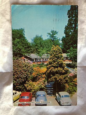 Old Postcard of The Chalet ,Storrs Hall Hotel, Windermere 1964