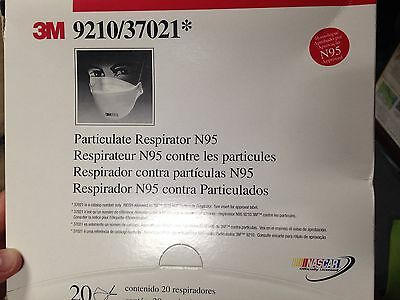 Free Shipping Box Of (20) 3M Particulate Respirator N95 9210 / 37021