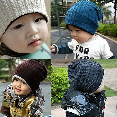 New Cute Boy sGirls Trendy Baby Toddler Child Hat Knit Beanie Warm Winter Cap