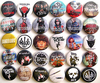 MY CHEMICAL ROMANCE Pins Button Badges Lot of 30
