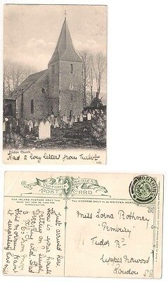 FINDON CHURCH nr Worthing West Sussex pu1906