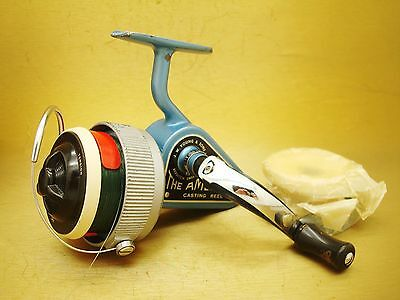 VINT RARE M50's JW YOUNG AMBIDEX REEL W/ORIG EXTRA SPOOL IN BAG, ENGLAND NICE