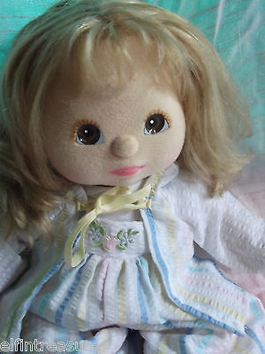 My Child Doll Aussie Strawberry Blonde Brown Eyes Peachy Skin c 1987 with Outfit